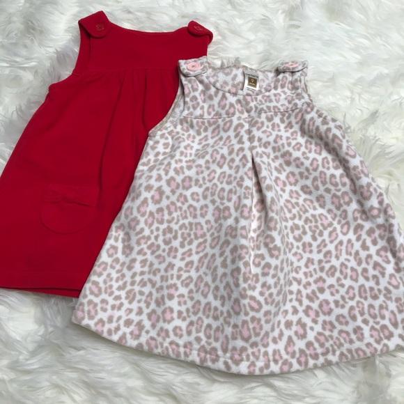 5/$25!!! LOT OF 2! Carter fleece dresses so 9 mos